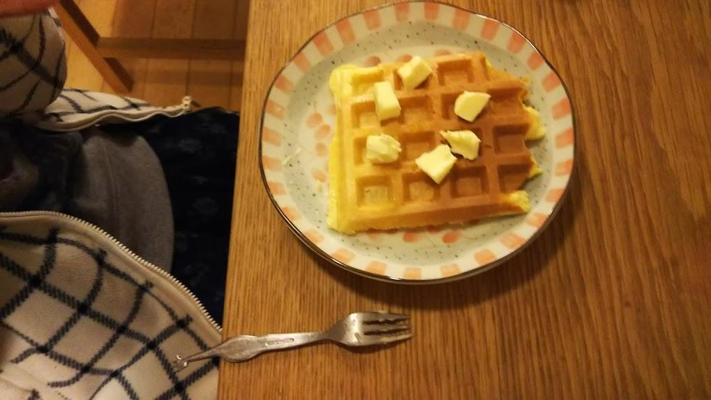 バターをトッピング