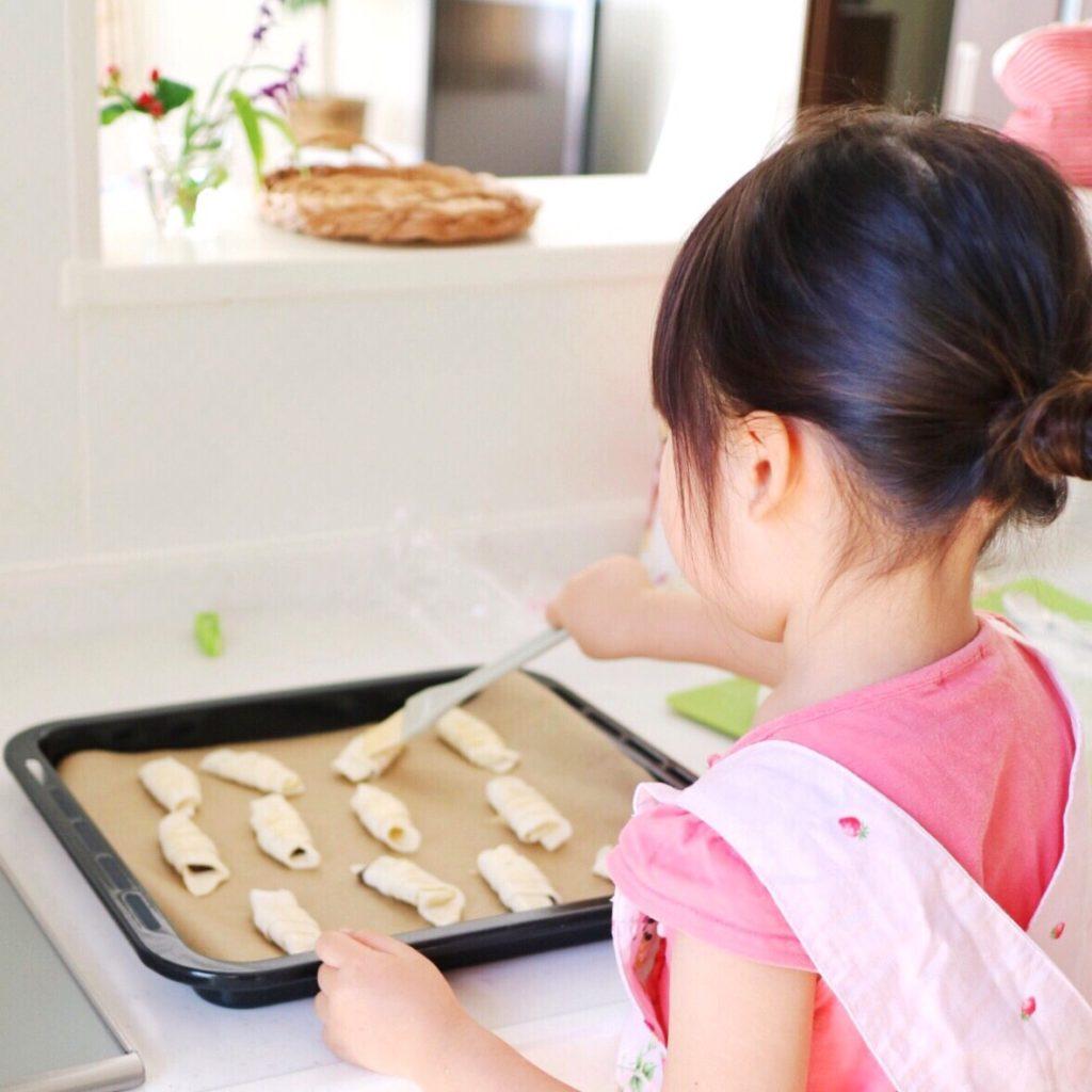 溶き卵を塗る