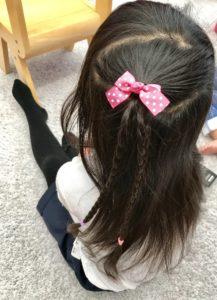 三つ編みダウンスタイル