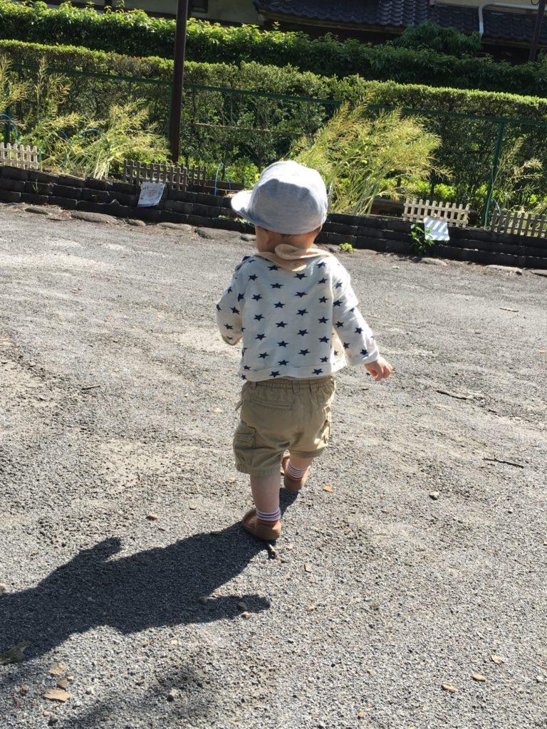 走り回る子